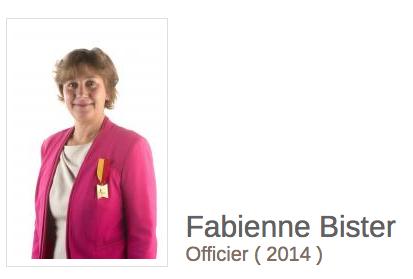 Capture d'écran d'un article de Connaître la Wallonie à propos de Fabienne Bister, publié le 18 septembre 2014 et disponible à l'adresse: http://connaitrelawallonie.wallonie.be/fr/wallons-marquants/merite/bister-fabienne#.XyfX0C06-hA