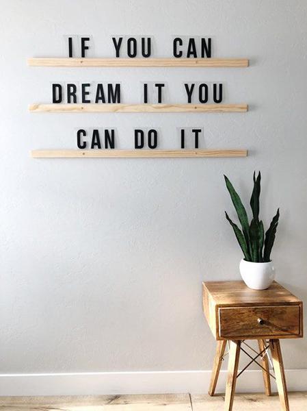 Citation «if you can dream it, you can do it». Représentant l'activité de coach de vie professionnelle de Fabienne Bister